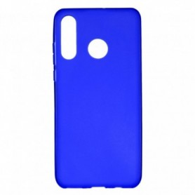 Funda Silicona Simple Azul Huawei P30 Lite