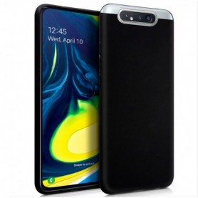 Funda Silicona Simple Negro Galaxy A80