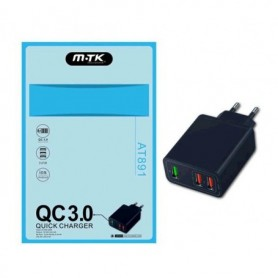 Enchufe Quick Charger 3 USB
