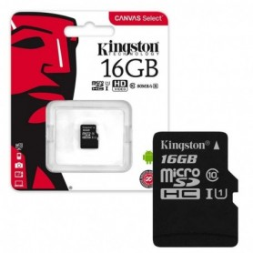Kingston memoria flash 16 GB MicroSDHC Clase 10 UHS-I