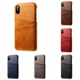 Apple iPhone X / XS - Funda Tarjetas Negro