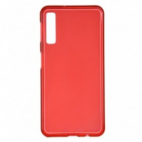 Funda Silicona Simple Rojo Galaxy A7 2018
