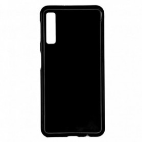 Funda Silicona Simple Negro Galaxy A7 2018