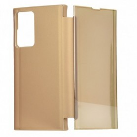 Libro Flip Clear Cover Espejo Dorado Galaxy Note 20 Ultra