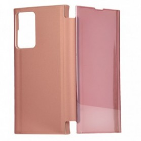 Libro Flip Clear Cover Espejo Rosa Galaxy Note 20 Ultra
