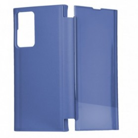 Libro Flip Clear Cover Espejo Azul Galaxy Note 20 Ultra