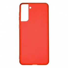 Funda Silicona Simple Rojo Galaxy S21