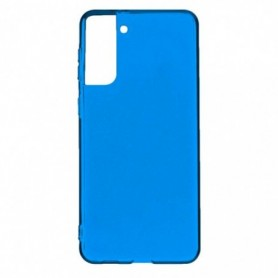 Funda Silicona Simple Azul Galaxy S21